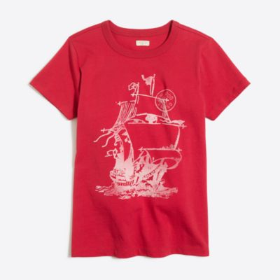 Boys' short-sleeve see the world ship storybook T-shirt factoryboys new arrivals c