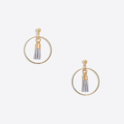 Tassel hoop earrings factorywomen new arrivals c
