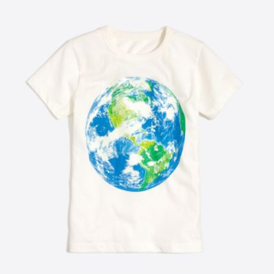 Boys' short-sleeve glow-in-the-dark earth T-shirt factoryboys knits & t-shirts c