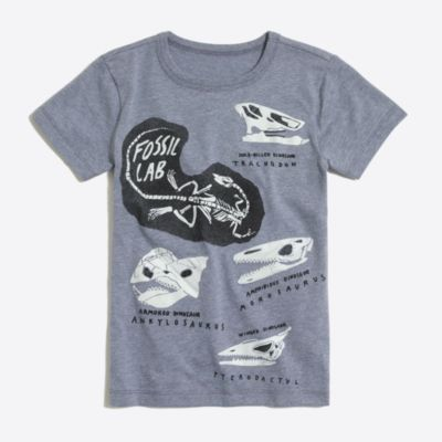 Boys' short-sleeve glow-in-the-dark fossil lab graphic T-shirt factoryboys knits & t-shirts c