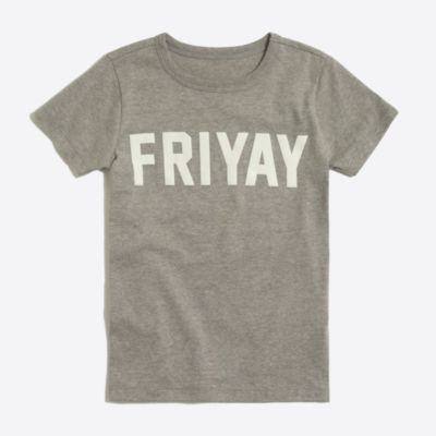 Boys' short-sleeve friyay graphic T-shirt factoryboys knits & t-shirts c