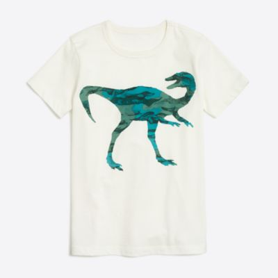 Boys' short-sleve camo dino graphic T-shirt factoryboys knits & t-shirts c