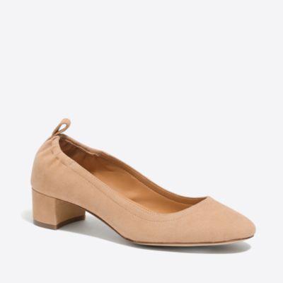 Anya suede block heels factorywomen shoes c