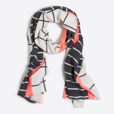 Windowpane striped scarf factorywomen accessories c