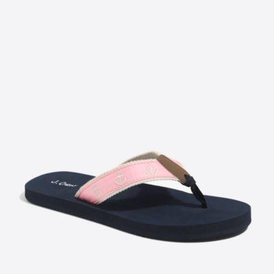 Embroidered-critter flip-flops factorywomen shoes c
