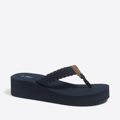 Braided cotton wedges factorywomen shoes c