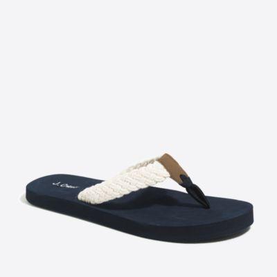 Braided cotton flip-flops factorywomen shoes c