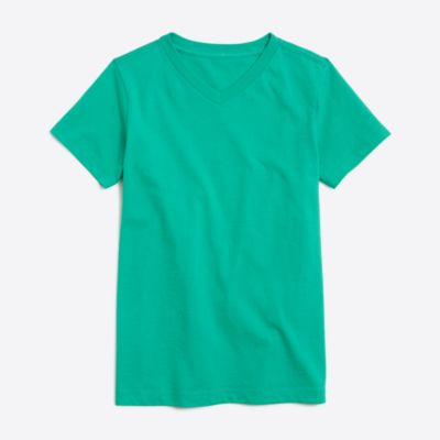 Boys' short-sleeve jersey V-neck T-shirt factoryboys knits & t-shirts c