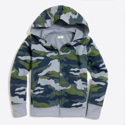 Boys' camo full-zip hoodie factoryboys knits & t-shirts c