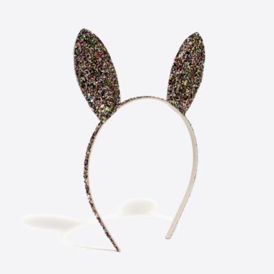 Girls' glittter bunny ears headband factorygirls jewelry & accessories c