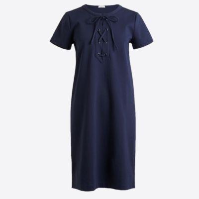 Lace-up knit dress factorywomen new arrivals c