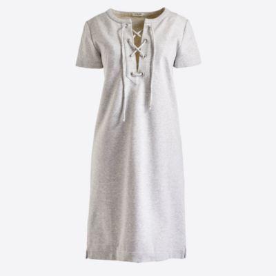 Lace-up knit dress factorywomen dresses c