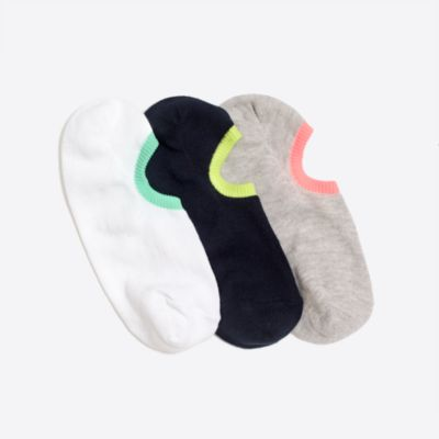 Neon no-show socks three-pack factoryboys online exclusives c