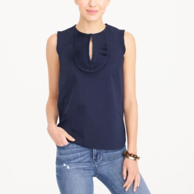 End-on-end ruffle-front shell factorywomen new arrivals c
