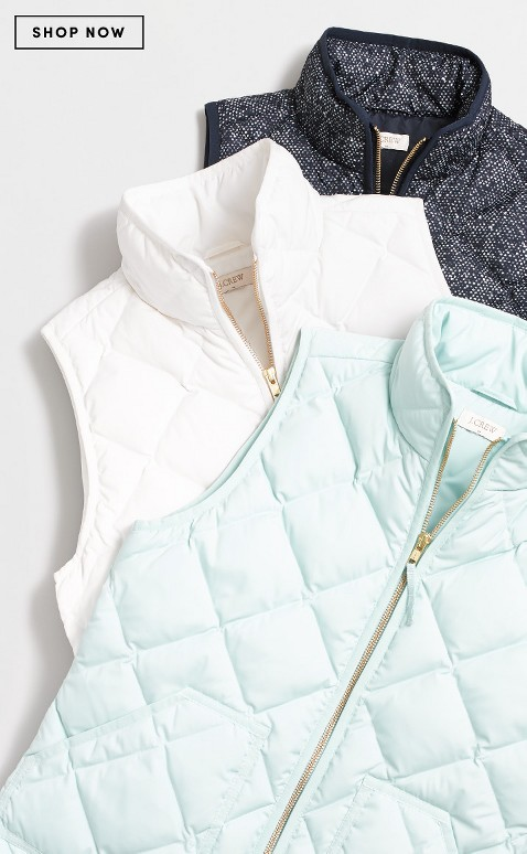 Love these puffer vests - on sale for $41 with code:  TODAYONLY